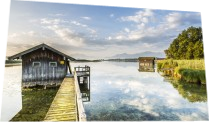 Dreamy view over lake Chiemsee