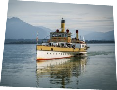 Boat trip to the isles of lake Chiemsee